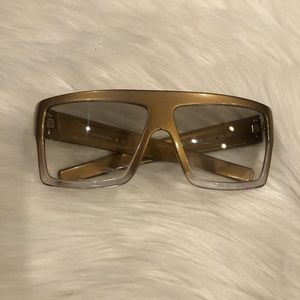 Vintage Gianfranco Ferre Gold Ombré Sunglasses
